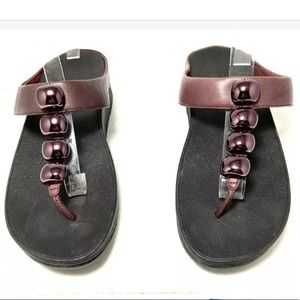 Fitflop Rola Hot Cherry Slip On Thong Sandals